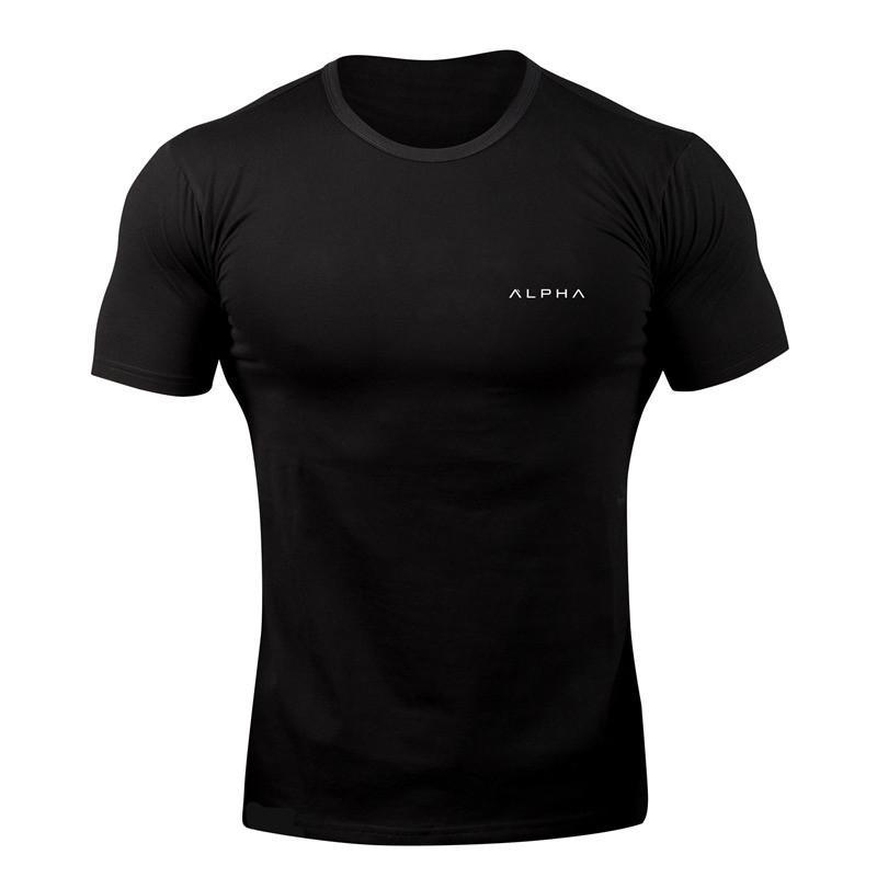 2018 NEUE Turnhallen T Shirt Männer Laufhemden Kurzarm Rashgard Sport Shirt Männer Workout Enge Top T Baumwolle Gym T-Shirt