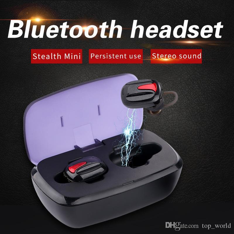 무료 배송 양이 블루투스 이어폰 스포츠 무선 휴대용 충전 박스 3D 스테레오 헤드셋 만 칼라 TWS-K8