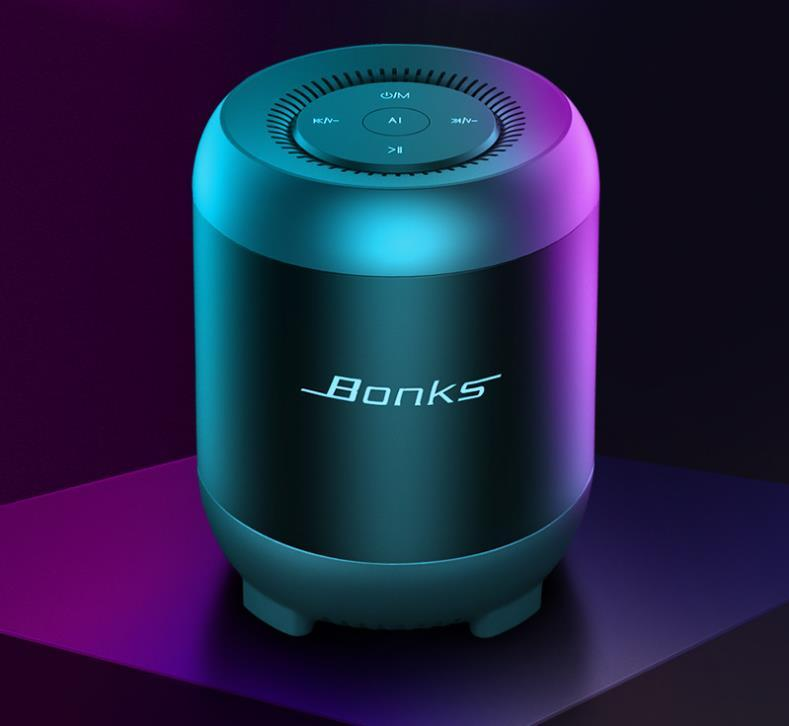 مكبر البلوتوث اللاسلكي الذكي بطاقة التحكم الصوتي الإصطناعي نوع مروحة الهاتف المحمول الصغير