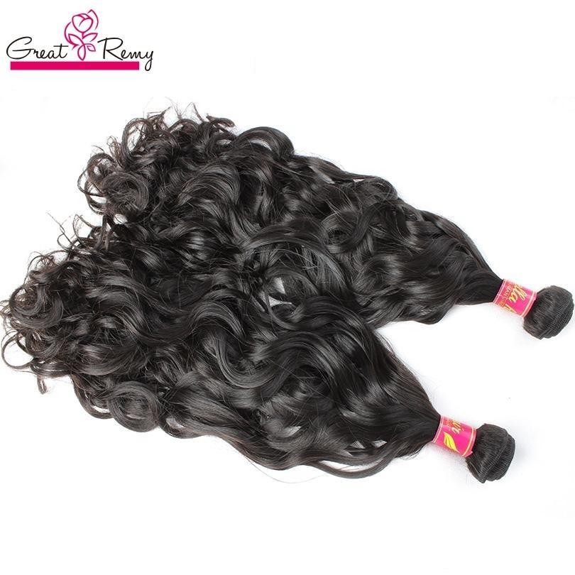 Greatremy® Braziliaanse haarbundels 8-30 Naturalwave Menselijk Haarverlenging Natuurlijke Kleur Maleisische Indiase Peruaanse Maagd HaarWEFFTS