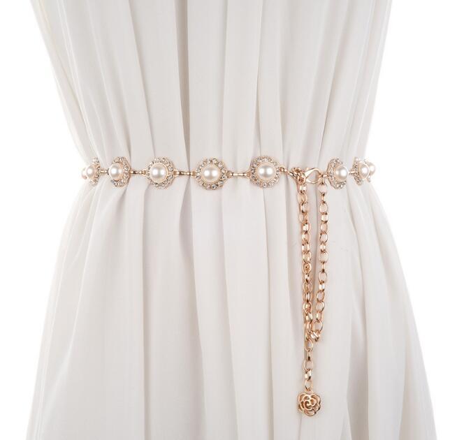 Korean version of the waist chain ladies waist belt joker metal chain dress decoration trench coat personality fashion accessories