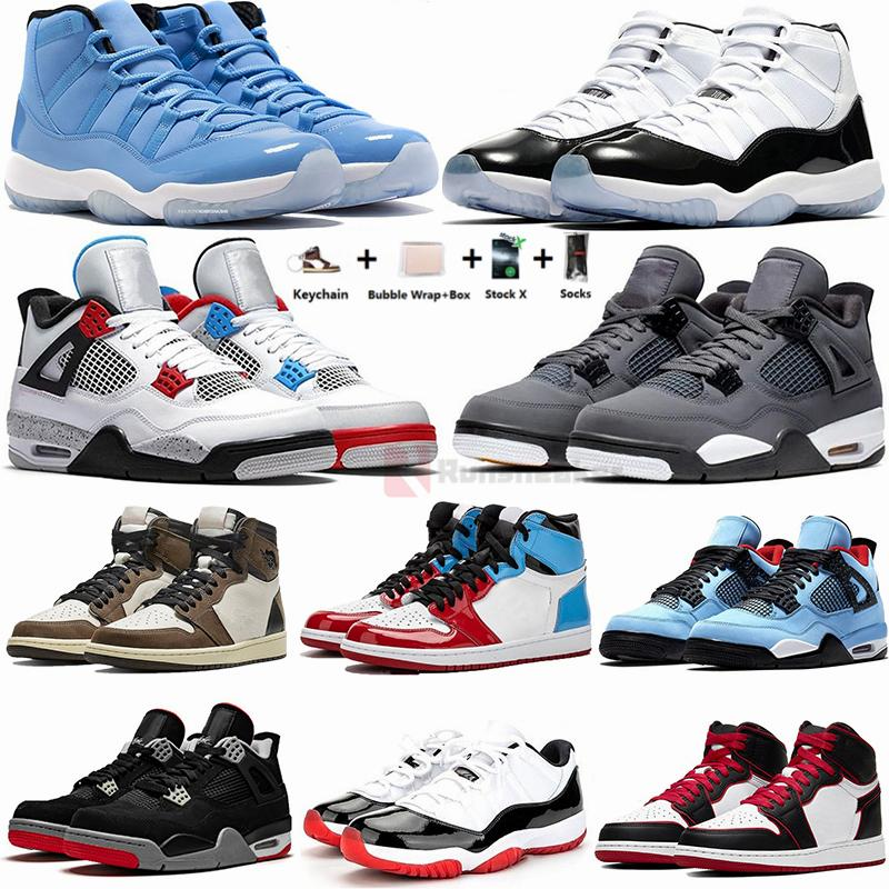 رجل حذاء رياضة 11S بانتون كونكورد 45 4S ولدت كرة السلة أحذية صبار جاك 1S ترافيس سكوتس UNC تويست النقي المال مان النساء في الهواء الطلق الاحذية