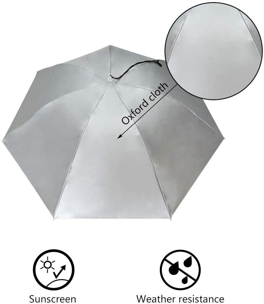 "Folding Sun Rain Cap Adjustable Multifunction Outdoor Headwear 26/"" Party Fishing,Hunting and Gardening Umbrella Hat Outdoor UV Protection Silver"