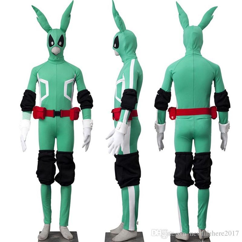 Il mio eroe Academia Izuku Midoriya tute Cosplay Boku no Eroe Academia Body verde vestito pieno facciale bambini maschera adulti