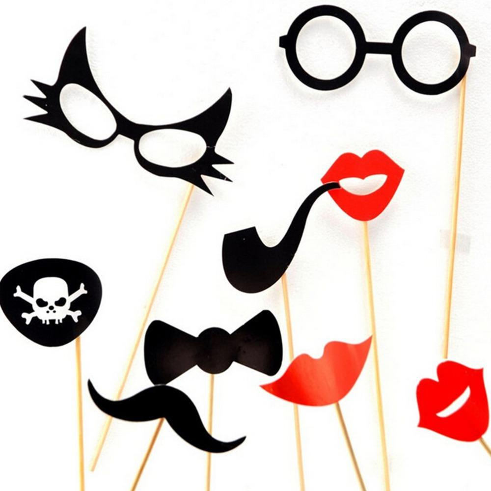 38 PCS/Set Fun Booth Props Glasses Mustache Lip Wedding Party Decoration Birthday Christmas New Year Event Favors