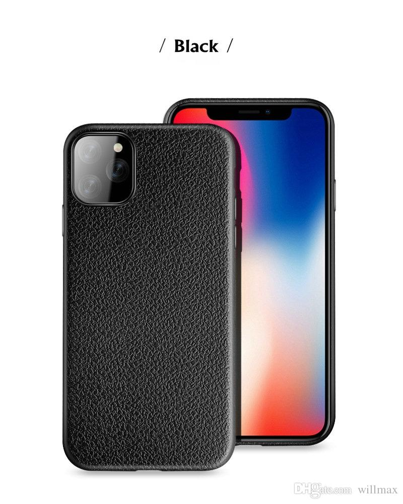 Para iPhone 11 Pro Max XR XS MAX 8 7P 6S Nota 10 TPU Case Pro S8 Ultra fino Padrão couro macio