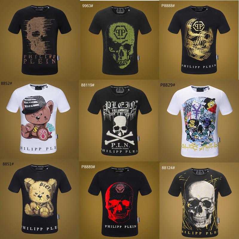 19ss desginer spor Hip Hop kış erkek t-shirt Kısa Kol Pamuk Kafatası kalça Tasarımcılar kadın t shirt p9908 başında mens hop Tasarımları