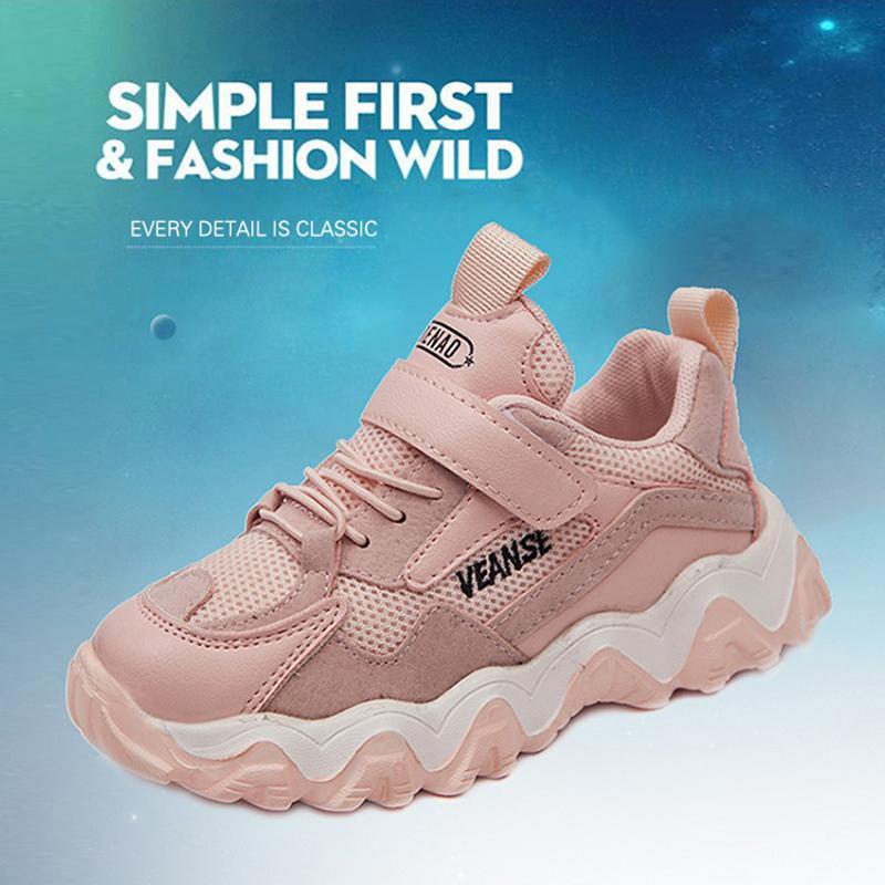Новая весна Детская обувь дышащая Non-Slip Мальчики Девочки Спортивная обувь Soft Подошва Mesh детей, бегущих кроссовки Мода Детские