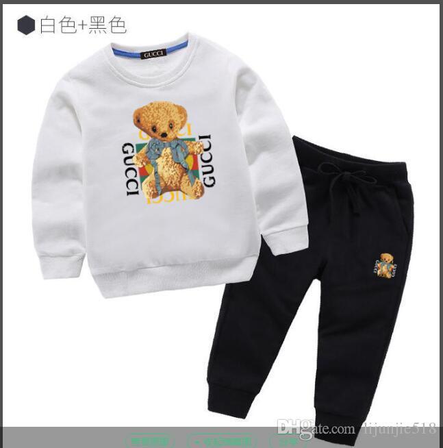 Establece niño niños bebé niños niño vende mejor camisa nueva del otoño del muchacho del suéter de la chaqueta con capucha traje de deportes hoodle ni