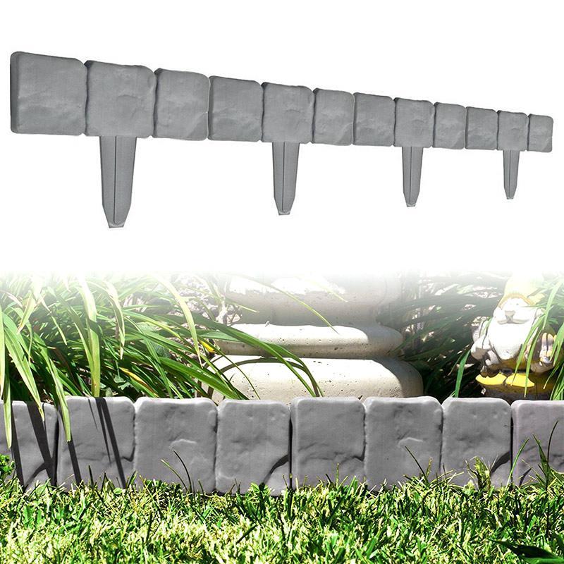 Dayanıklı Plastik T-Şekli Çim Boarder Çit Cobbled Taş Etkisi Çekiç-In Çim Bahçe Kenar Uej