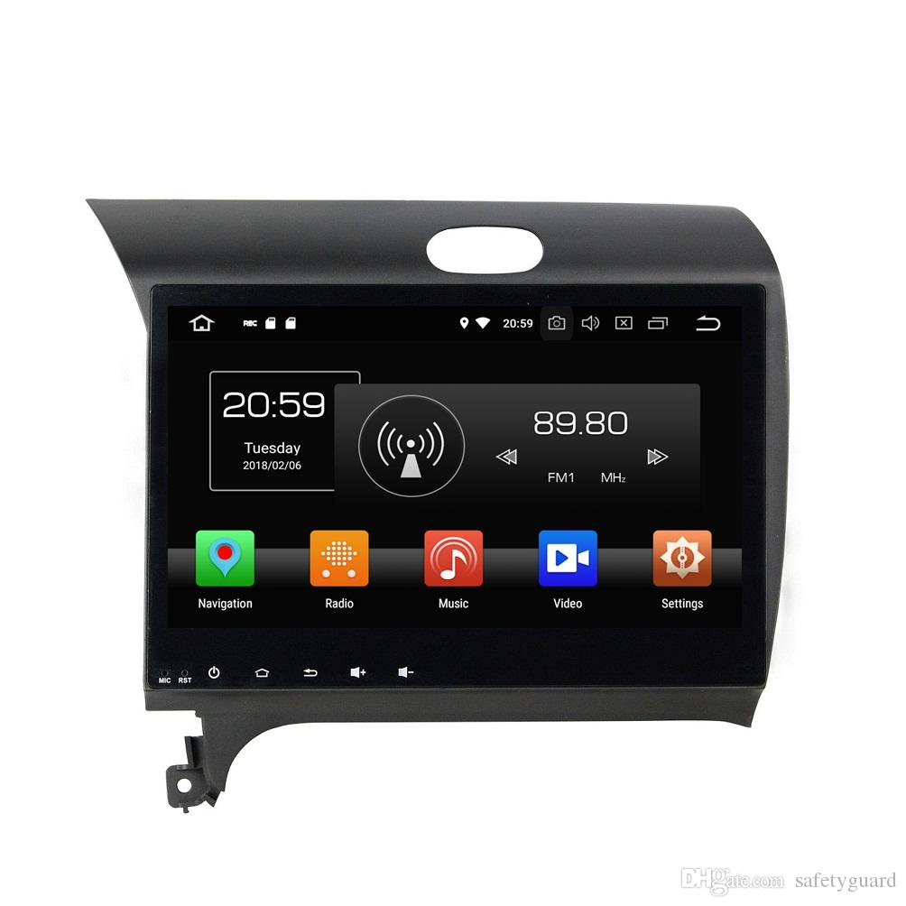Android 8.0 HD 2 din 10.1 Octa Core Car DVD Radio GPS لكيا سيراتو K3 فورتي 2013 2014 2015 4GB RAM Bluetooth WIFI USB Mirror-link