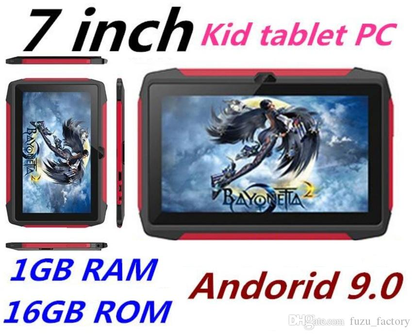 أحدث طفل اللوحي Q98 رباعية النواة 7 بوصة 1024 * 600 HD شاشة الروبوت 9.0 AllWinner لA50 الحقيقي 1GB RAM 16GB مع واي فاي بلوتوث