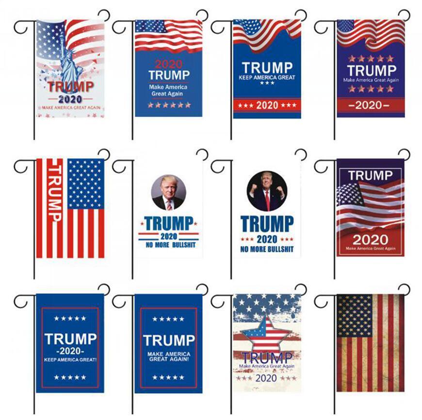 ترامب 2020 حديقة العلم 30 * 45CM أعلام دونالد ترامب تقديم أعلام أمريكا العظمى الرئيس الانتخابات حديقة راية OOA7990