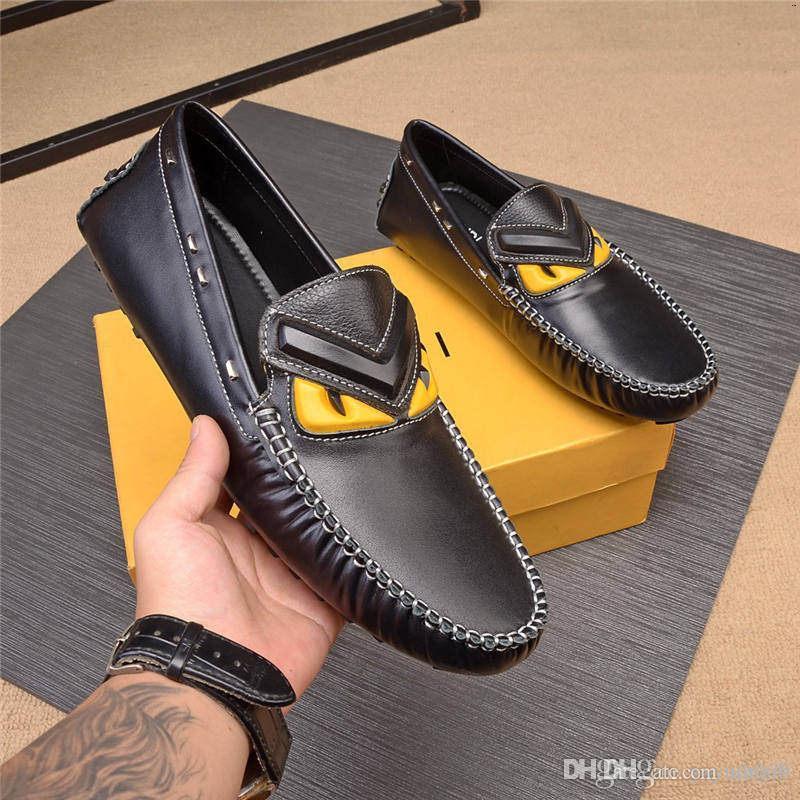 A6 10 стиль FDbrands дизайн скольжения на черный коричневый итальянский вечернее платье мокасины мужские квартиры розетки мужчины Повседневная обувь кожа Мужская обувь