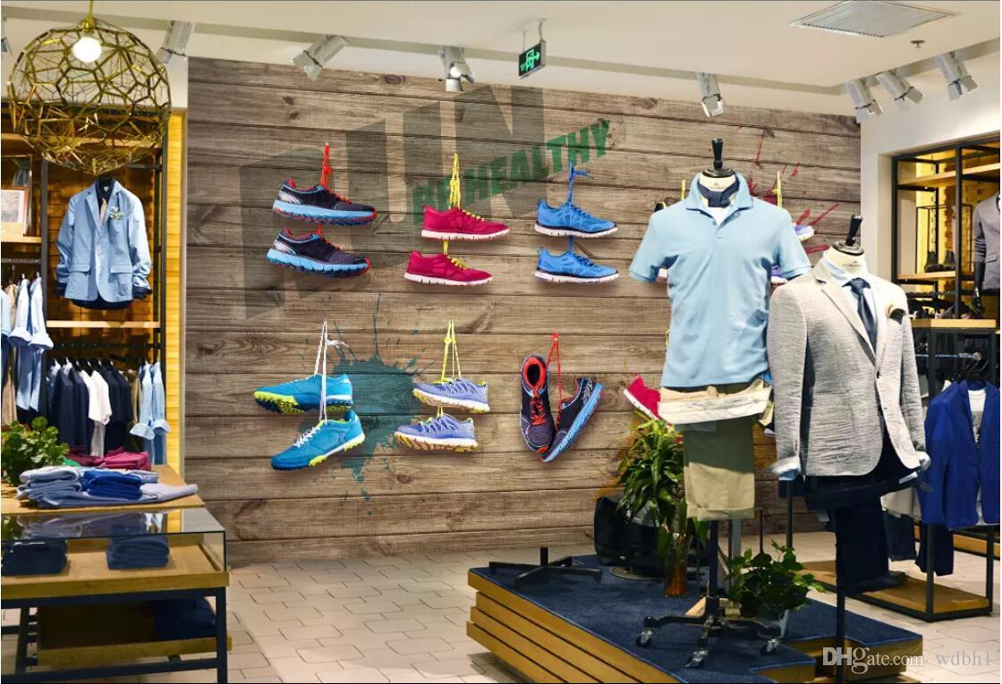 3d wallpaper custom photo mural Sports shoes, clothing store, wall decoration painting landscape wall tapestry 3d