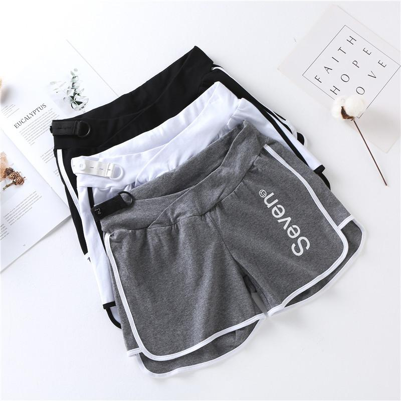 2019 Summer New Style Pregnant Women Low-Rise Bilateral Sports Shorts Hot Pants Safety Shorts Leggings