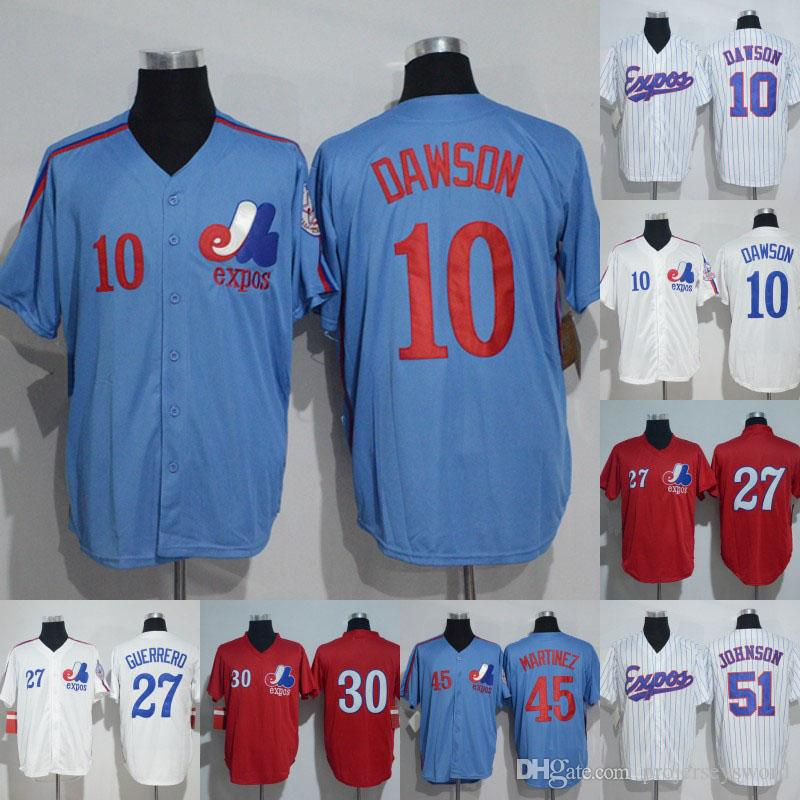 Montreal Expos Jersey 10 Andre Dawson 14 Pete Rose 27 Vladimir Guerrero 30 Tim Raines 45 Pedro Martinez 51 Randy Johnson Baseball Jerseys