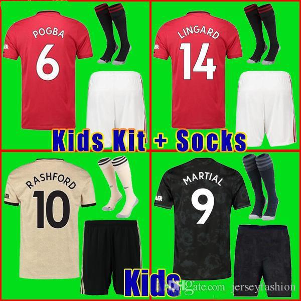 19 20 FC futbol forması 2019 2020 7. ALEXIS Formalar UTD United futbol forması ÇOCUKLAR Kiti erkek üniforma çocuklar + çorap uzakta Manchester