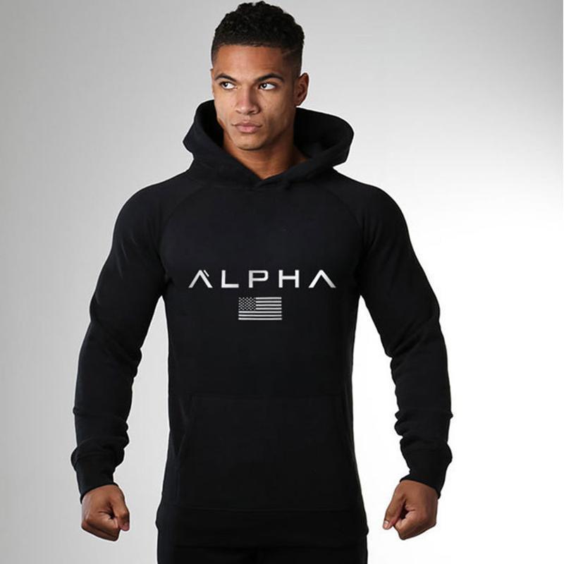 Hoodies dos homens Moda Casual camisola de algodão Academias de Fitness Treino Jaqueta Com Capuz Tops Masculino Sportswear Roupas Outono