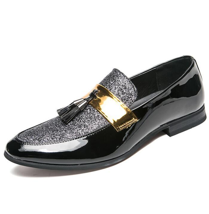 2019 New Metal fashion gold Gland of Loafers Marque Designer Mocassins Gentleman Luxe Mode Stress Chaussures Hommes Marque Hommes Chaussures