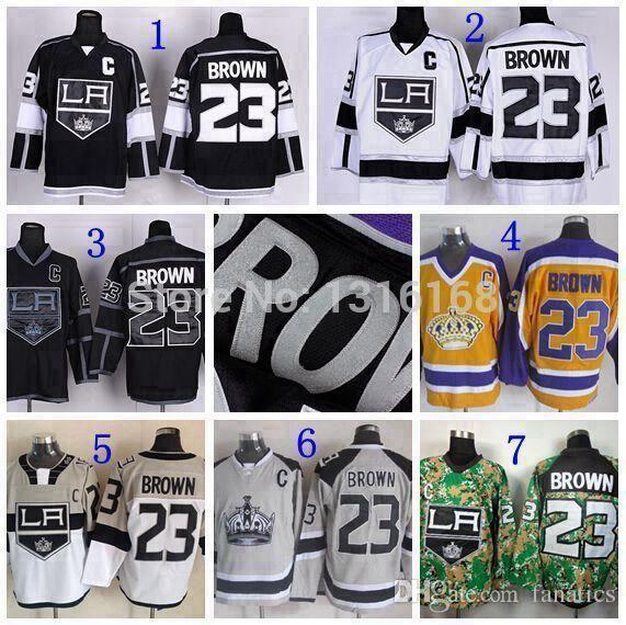 the best attitude c211e e1219 2019 2016 LA Kings #23 Dustin Brown Jersey Cheap Hockey Jerseys Ice Los  Angeles Kings Stadium Series Jerseys Black White Grey Yellow From  Jerseysword, ...