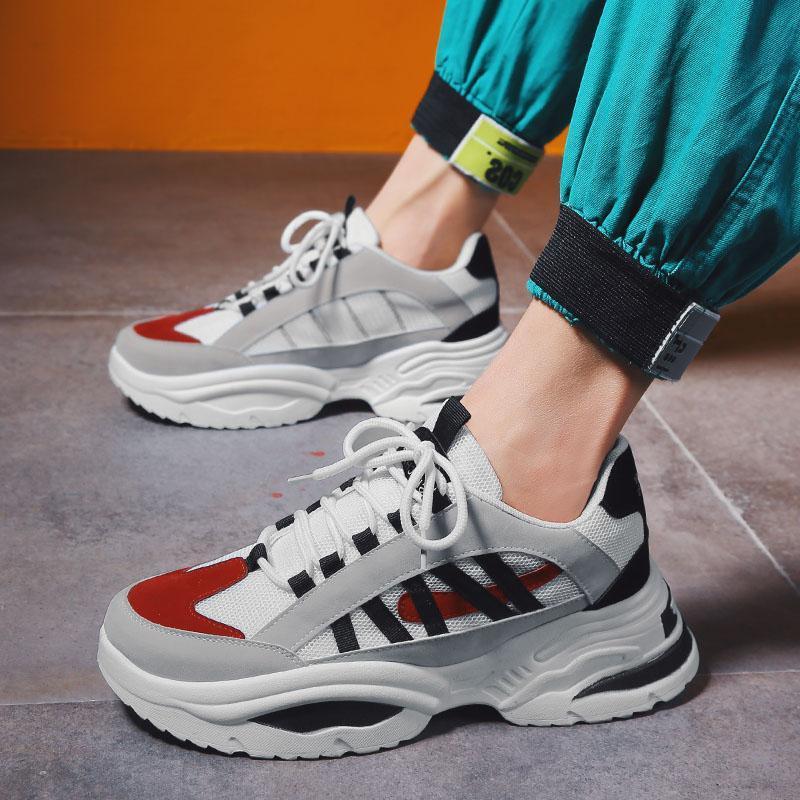Bjakin venta caliente horno eléctrico de arco de los zapatos corrientes de los hombres Altura amarillo aumento de las zapatillas de deporte al aire libre INS frío hombre de Calidad Deportes tamaño de los zapatos 35-49 -78