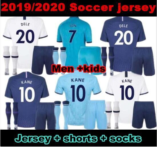 10 free DHL!19 20 Spurs kids home soccer Jersey Kits 2019 2020 Kane Son Alderweireld Eriksen Dele HOME AWAY child Football Shirt