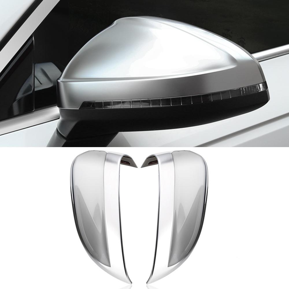 아우디 A4의 B9 2017-2020에 대한 자동 자동차 액세서리 사이드 백미러 커버 프레임 스티커 트림 교체 케이스 외부 장식