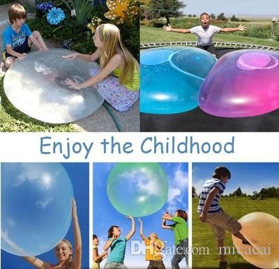 Super Bubble Balloon Inflatable Funny Toy Ball Amazing Bubble Ball Inflatable Ball Toys for Kids Outdoor Play Random Color