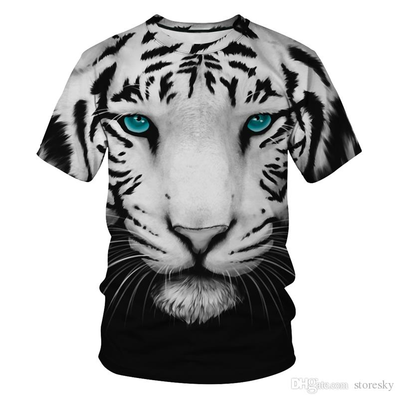 White Tiger Blue Eyes T-Shirt