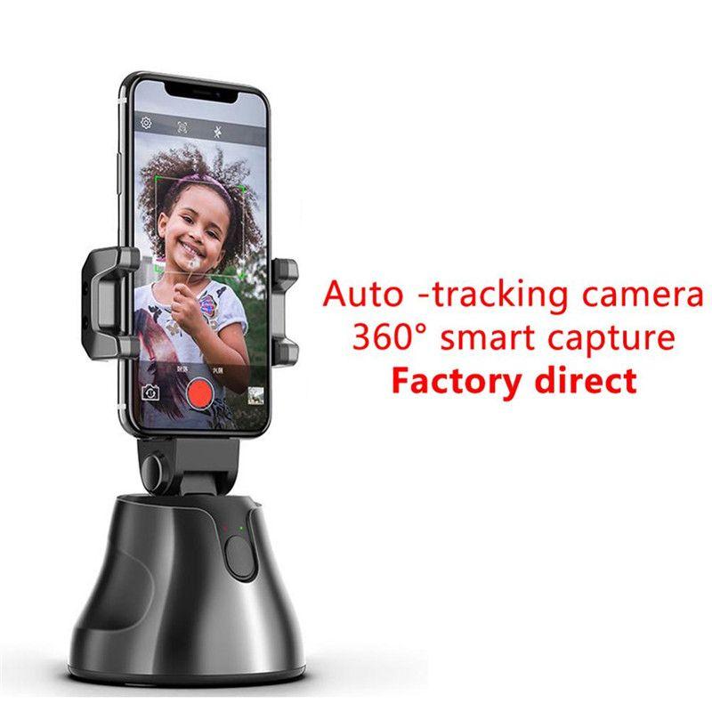 Smart-Shooting Selfie Stick-Smartphone Halter Halterung 360 Umdrehung Auto Face Tracking Objektverfolgung Vlog Kamera-Telefon-Halter