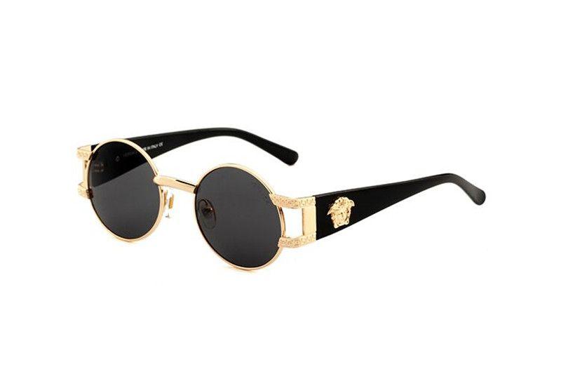 Brand Designer Occhiali da sole Cerniera in metallo di alta qualità Occhiali da sole Donna Occhiali da sole Occhiali da sole UV400 Unisex con custodia e astuccio originali