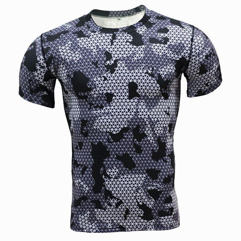 Moda-Venta al por mayor Hombres Mujeres Camiseta Camuflaje de verano Impreso Camiseta de manga corta Casual Ejército Camo Camiseta militar Top Camiseta Homme