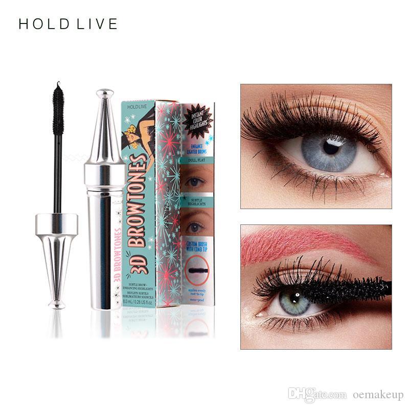 HOLD LIVE 3D 섬유 속눈썹 마스카라 메이크업 컬링 아이 래쉬 블랙 방수 섬유 마스카라 볼륨 속눈썹 메이크업