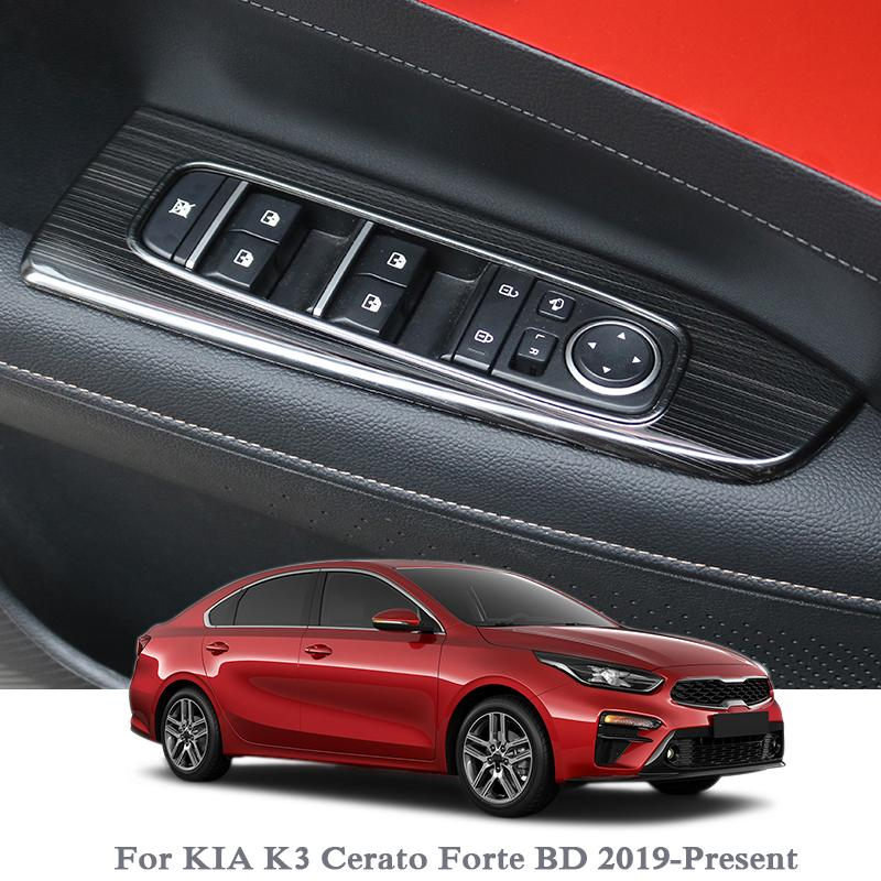 Per KIA Cerato K3 Forte BD 2019 Car Styling per porte e finestre interno Ascensore interruttore paillettes interno Sticker Interni Accessori Telaio
