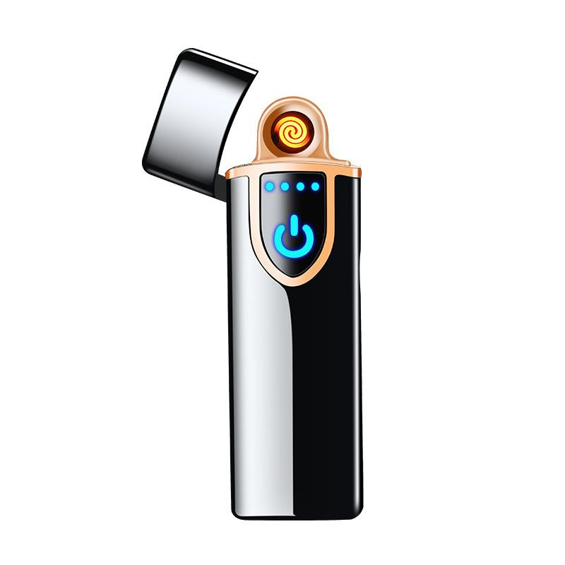 Touch-senstive Switch USB Lighters Windproof Flameless Rechargeable Electronic Lighter