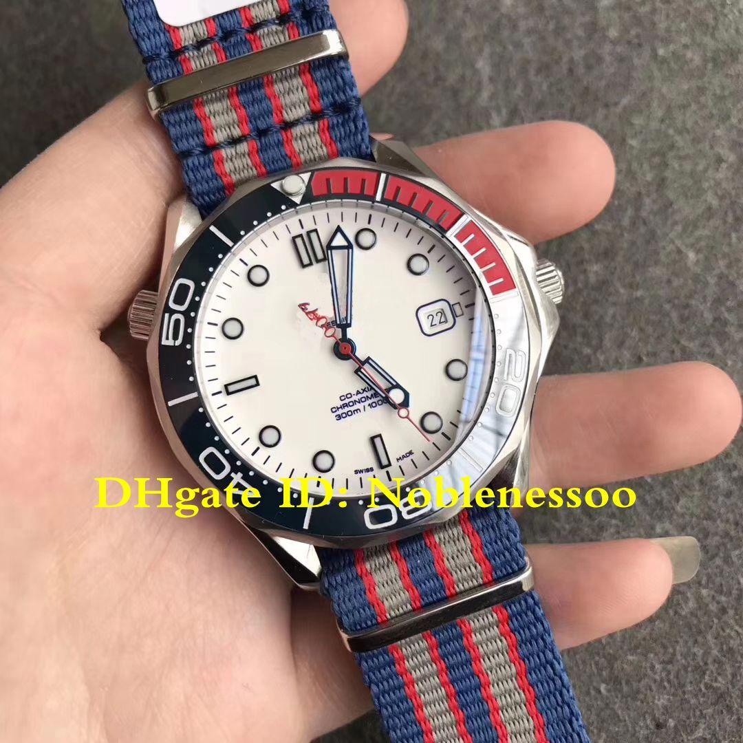 3 نمط سوبر حركة OM السويسري CAL.2507 التلقائية الرجال والطلب الأبيض غواص جيمس بوند 007 ليمتد قادة مشاهدة الساعات ساعة اليد للرجال
