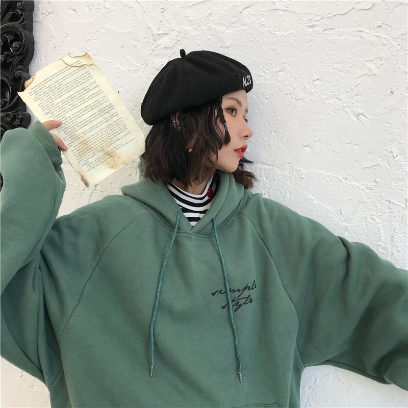 Frauen Hoodies 2019 neue Ankunfts-Winter Mode Pullover Designer Langarm-Qualitäts-Luxus-Kleidung 3 Farben M ~ 2XL