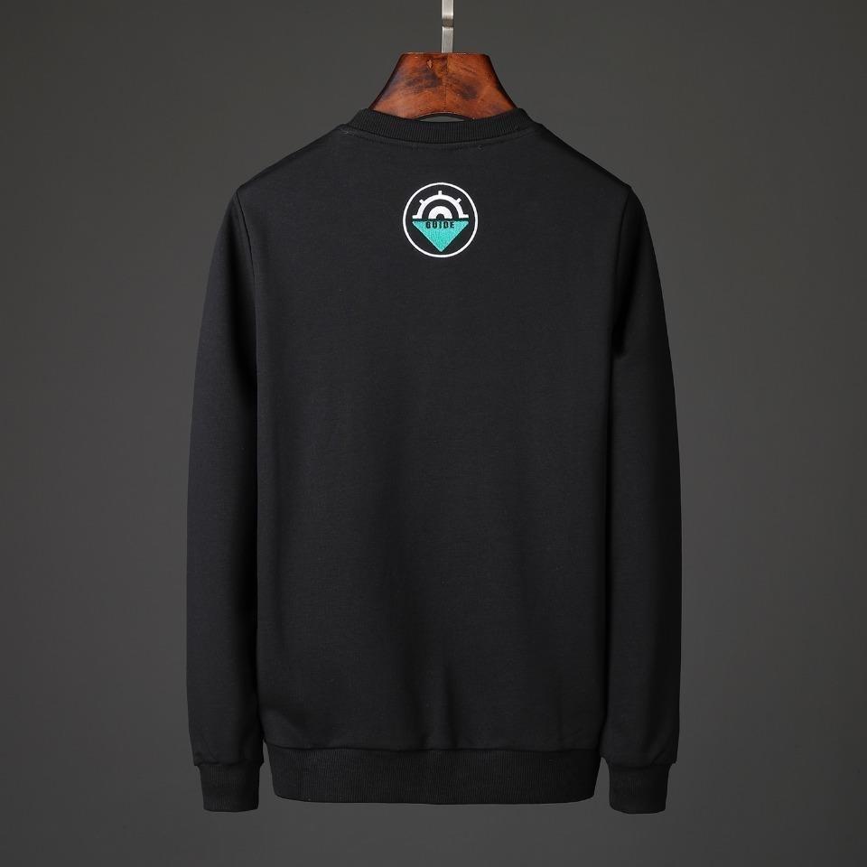 круглый 2019 одежда черная мужская шея печати хлопок с длинным рукавом толстовка мужская одежда толстовки свободного покроя пуловер джемпер мужские свитера 19-29