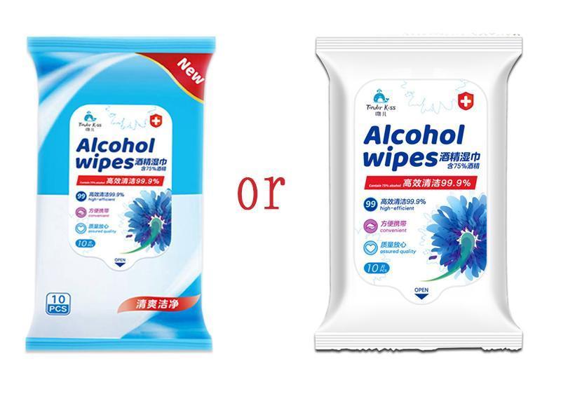 EN la acción 50pcs alcohol Desinfectar Toallitas 75% super suave algodón con alcohol de ratón grande Wet Wipes 8x6 Esterilización de primeros auxilios de limpieza en T de Cuidado