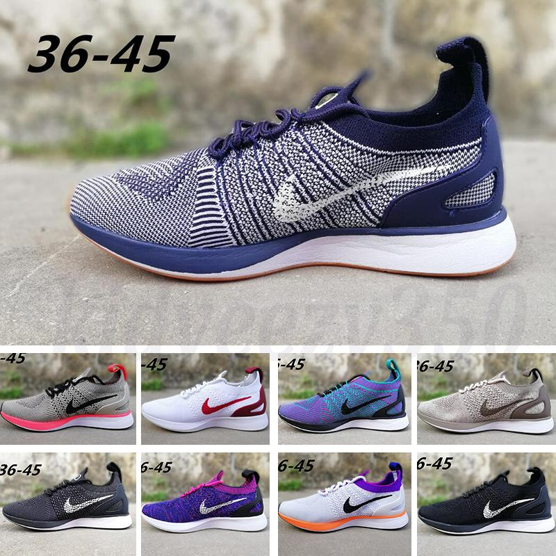 Nike Air Zoom Mariah Flyknit Racer iD new atacado Zoom Mariah Fly Racer 2 3 Mulheres Homens Calçados casuais zoom Racers Sneaker Trainers Lightweight respiráveis ​​Shoes 36-45 A55