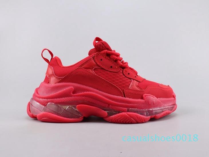 Mens Womens Triple-S Designer Shoes piattaforma da tennis Pista scarpe casual di lusso per la qualità degli uomini / donne Red triple bottom s casual c18 scarpe papà
