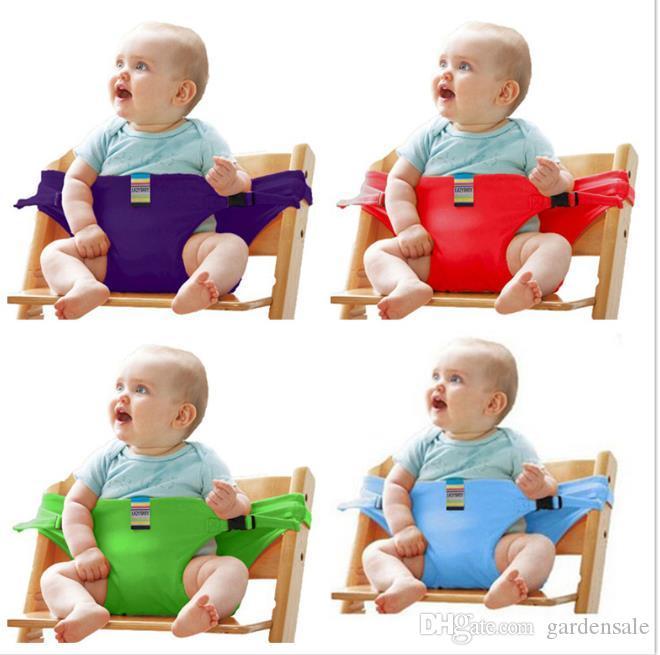 Bebê portátil Assento para crianças Cadeira de viagem dobrável lavável infantil de jantar alta Dinning Tampa cinto de segurança cinto de segurança auxiliar