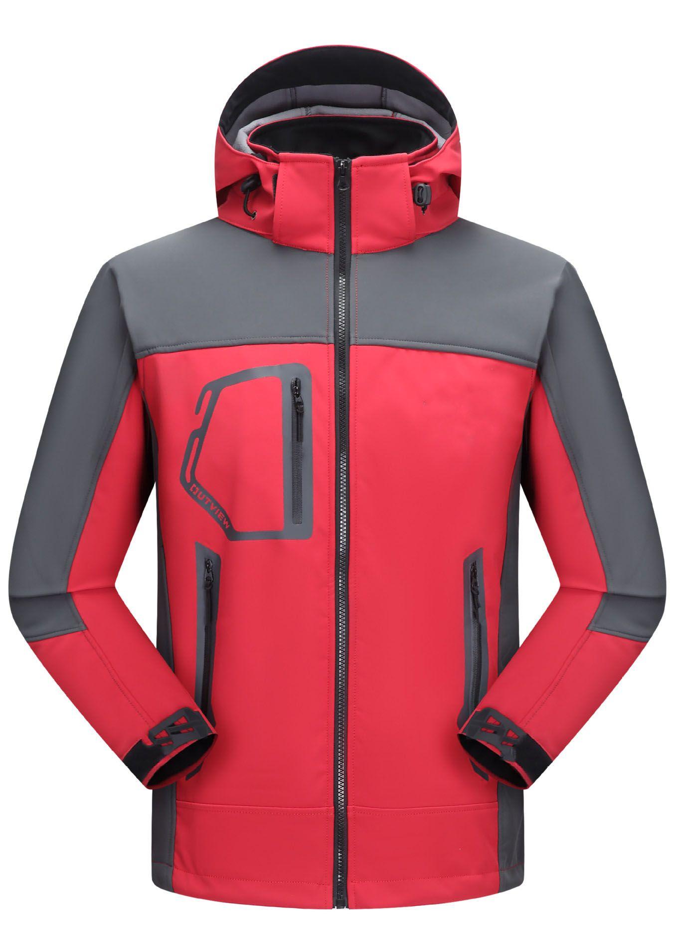 20stop Männer wasserdichte atmungsaktive Softshell Jacket Men Im Freien Sport Mäntel Ski Wandern Winddichtes Winter-Outwear Soft Shell Jacke Männer wandern