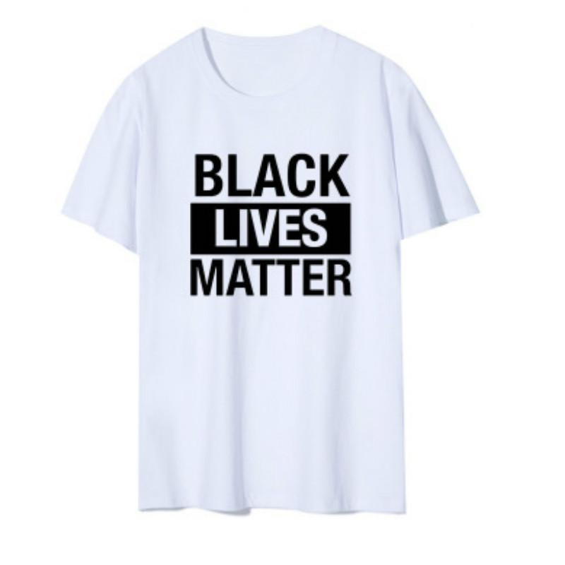 BLACK LEBT MATTER Mens Buchstabe T-Shirts der Frauen Solid Color Sommer Tops Jugend-Sommer-T-Shirt Men Casual Top I Cant Breathe
