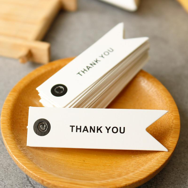 Bricolage Habillement couture Tissu de vêtement Balises Livre blanc Balises Merci main étiquette de cadeau Étiquettes Boîte cadeau Sacs d'emballage Décoration
