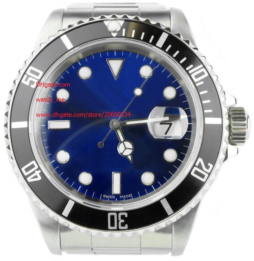 Завод производитель роскошные мужские модные наручные часы дата 116610 40 мм автоматическая керамика Азия 2813 механизм синий циферблат 40 мм мужские часы