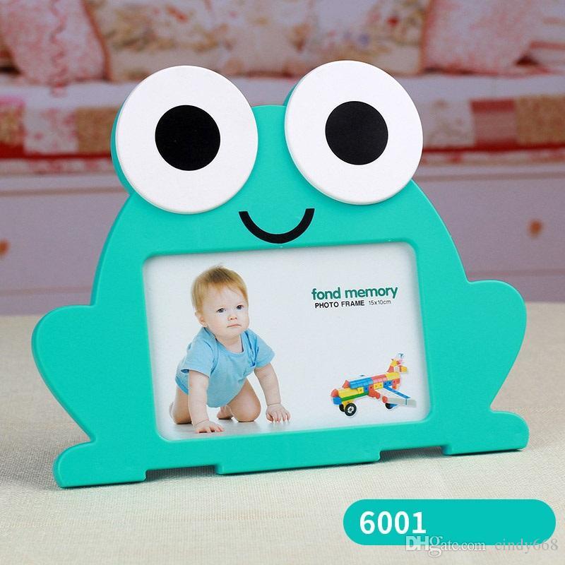 Милый Мультфильм Детские Фоторамки FrogCalf Shaped Пластиковые Фоторамки Для Фото 6 Дюймов Качество Baby Frame Card Display Box
