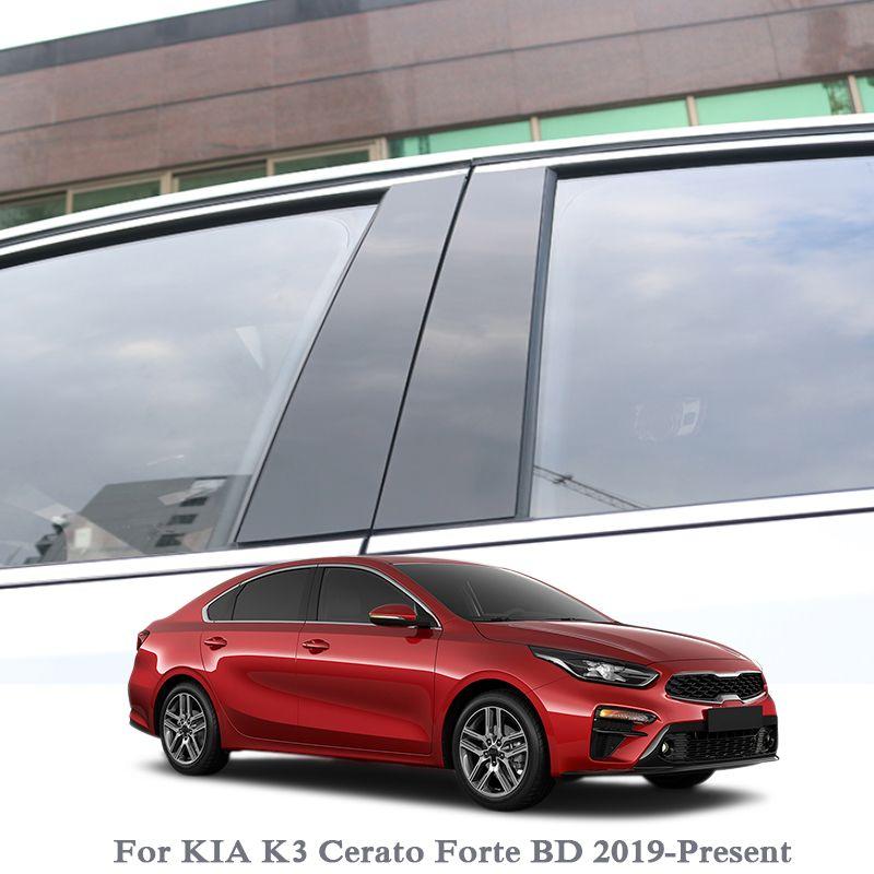 6шт автомобиля Стайлинг для Kia K3 Cerato Forte BD 2019-Present Окно обшивки наклейки средней колонке наклейки ПВХ Внешние аксессуары