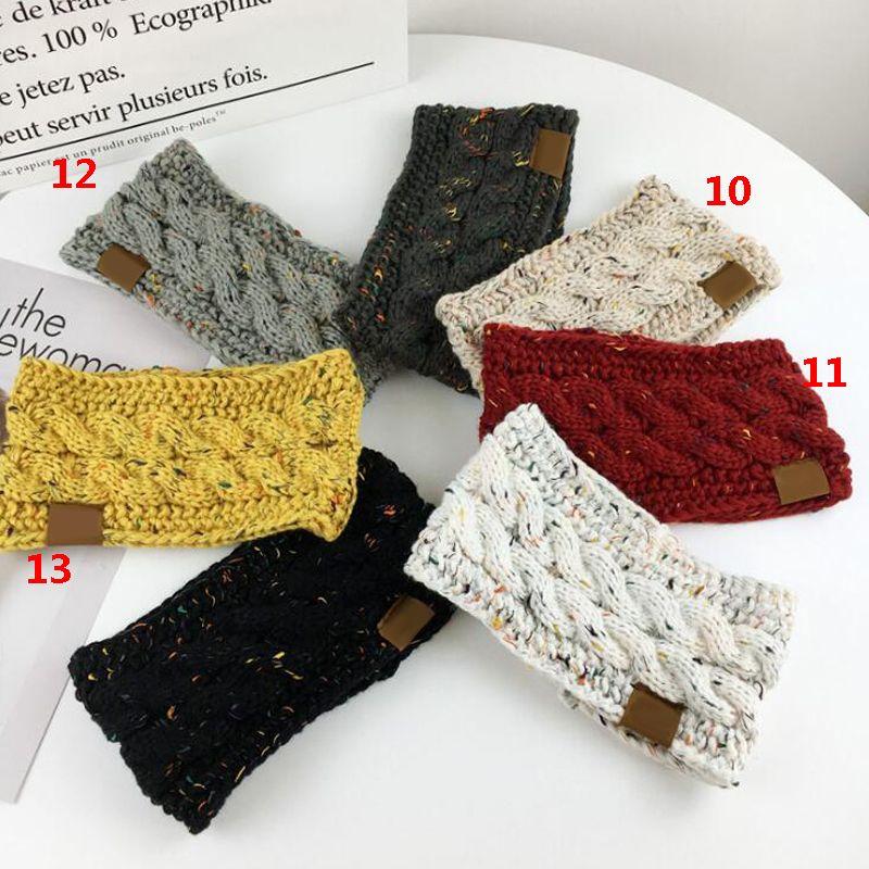 Sıcak 9 Renkler C Örme Tığ Kafa Kadınlar Kış Sporları Headwrap Hairband Turban Kulak Isıtıcı Beanie Cap Bantlar AAA836 100pcs
